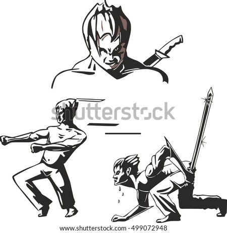 set of three teen warriors of