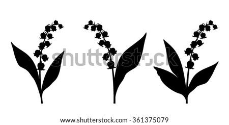 set of three vector black