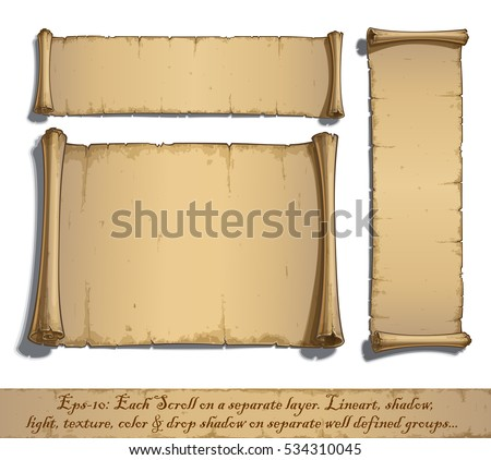 set of three vector cartoon