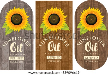 set of three vector labels for