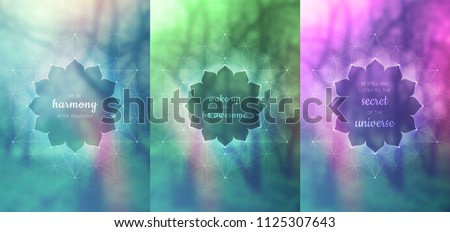 set of three vector template