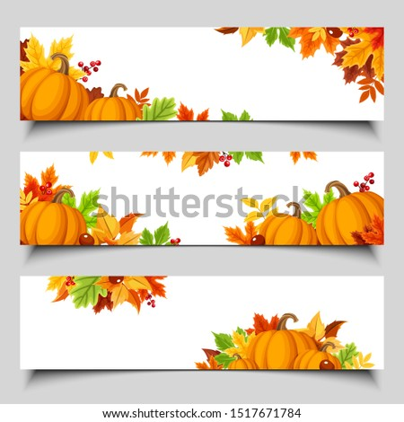 set of three vector web banners