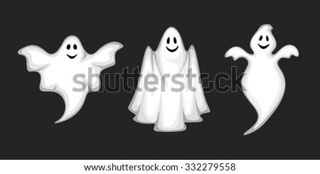 set of three vector white