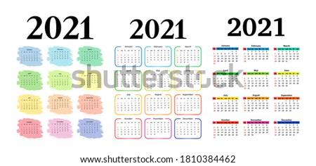set of three vertical calendars