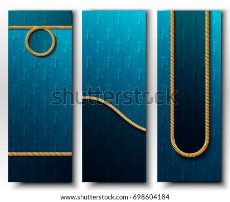 set of three vertical vector