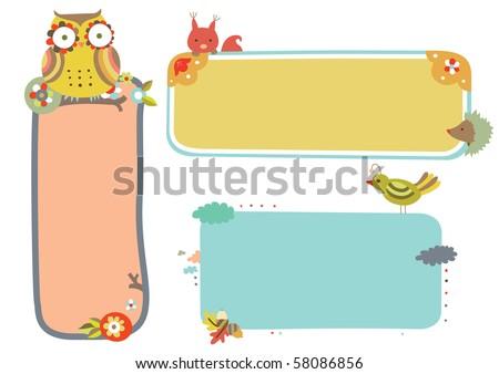 Set of three wildlife themed frames.