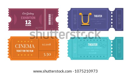 set of tickets on various