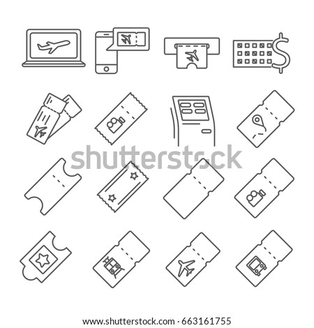 set of tickets related vector