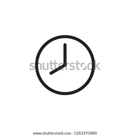 Set of time, clock, watch, timer vector simple outline icons  eight o'clock Сток-фото ©