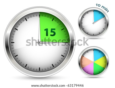 Set of timers. Vector illustration. - stock vector