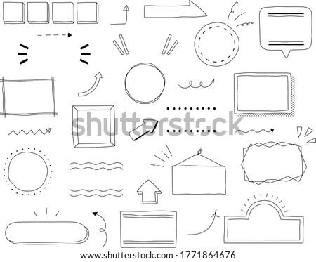 Set of title index template , frame ,decoration, ornament