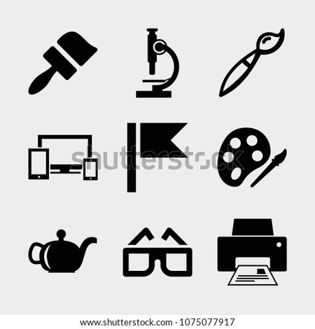 set of 9 tool filled icons such