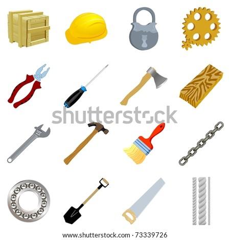 Set of tools. Vector
