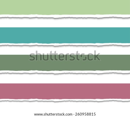Set of 4 Torn paper pieces banners. Vector EPS10 illustration. Design elements - paper with ripped edges