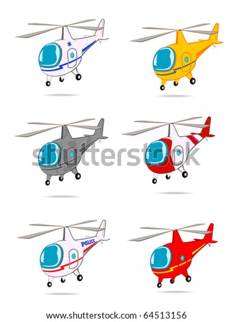 set of toy helicopters vector 2