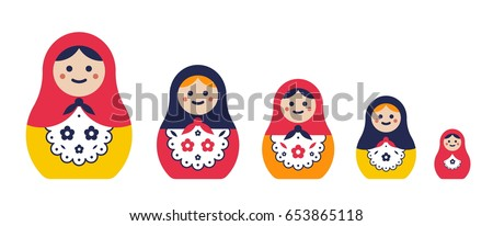 set of traditional nesting doll