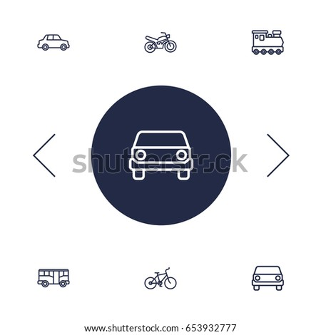 set of 6 traffic outline icons