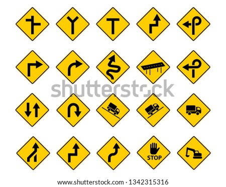 set of traffic sign in vector