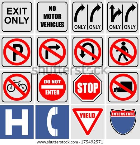 Set of traffic signals