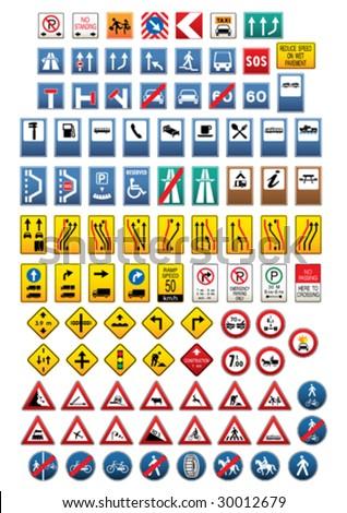 Set of traffic signs. Vector illustration. #30012679