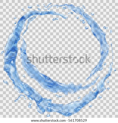 set of translucent water