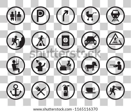 set of 20 transparency icons