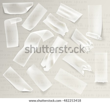 set of transparent adhesive tape and adhesive sellotape #482253418