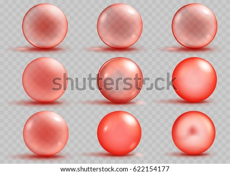 set of transparent and opaque
