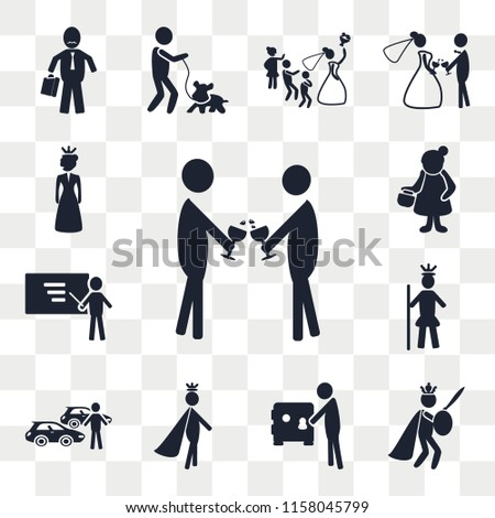 Set Of 13 transparent editable icons such as Event, King, Safe box, Prince, Car collection, Royalty, Business, Woman, Princess, web ui icon pack, transparency set #1158045799