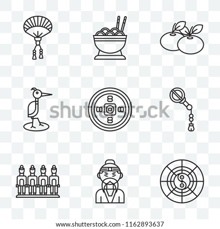 set of 9 transparent icons such