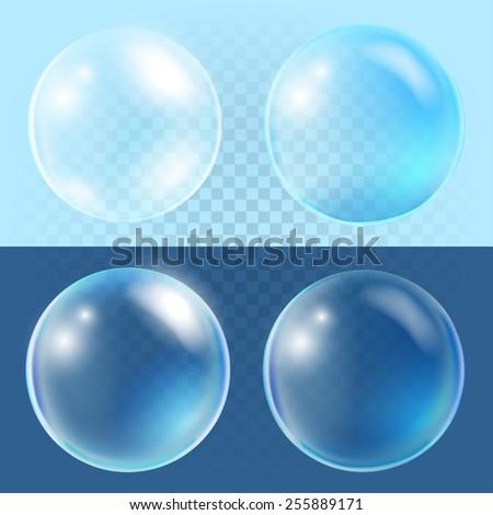 Stock Photo Set of transparent vector bubbles