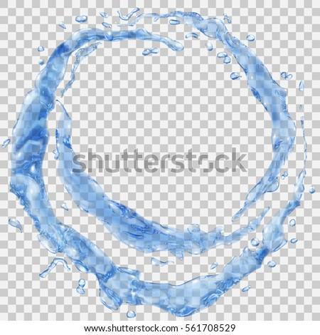 set of transparent water