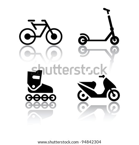 Set of transport icons - extreme sports