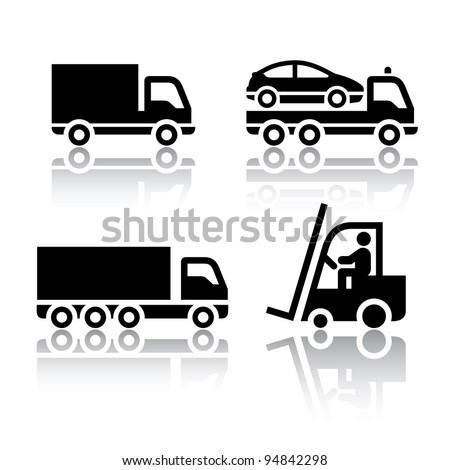Set of transport icons truck