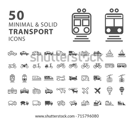 set of 50 transport minimal and