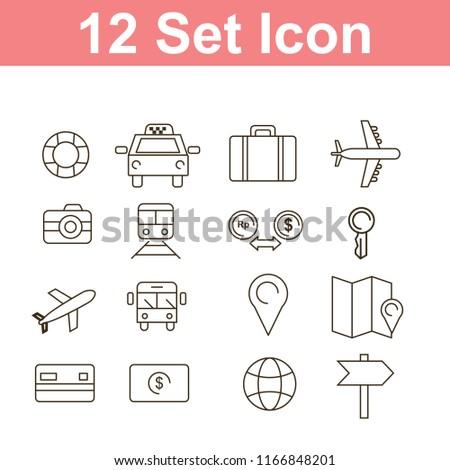 set of transportation icon