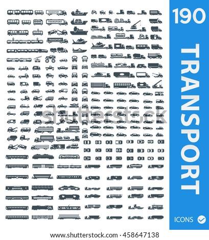 Set of Transportation icons