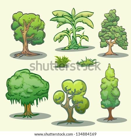 how to draw a cartoon tree