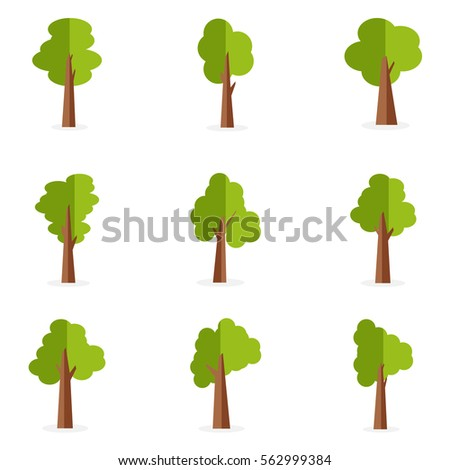 set of tree collection stock