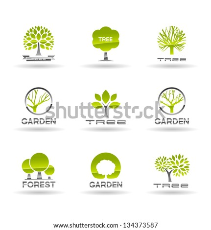 set of tree icons vol 1