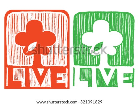 stock-vector-set-of-tree-with-live-text-