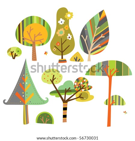 set of trees created in