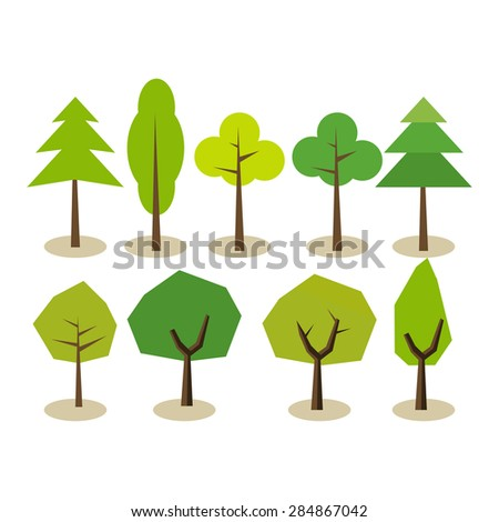 set of trees tree symbols