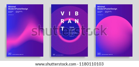 set of trendy abstract design