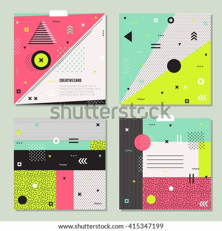 set of trendy geometric