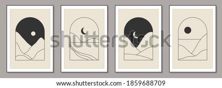 set of trendy minimalist