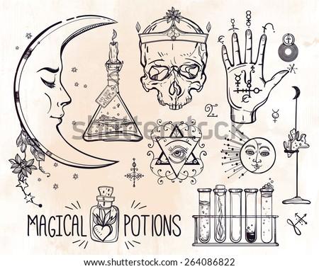 Alchemie-Symbole Samml...