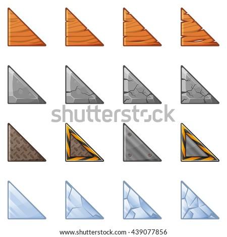 set of triangular blocks for