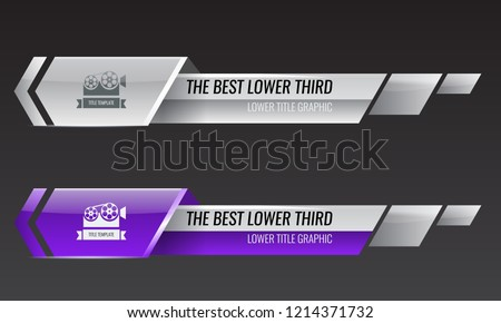 Set of Tv news bars for Video headline title or lower third template. Vector illustration.