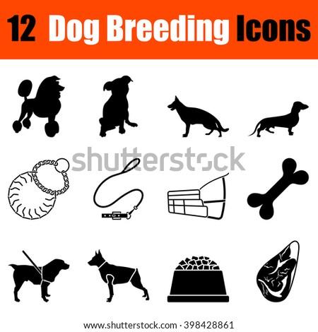 set of twelve dog breeding